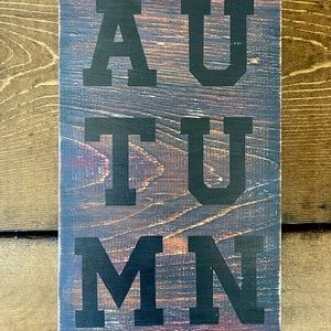 Hand Painted Wood Autumn Sign 🍂